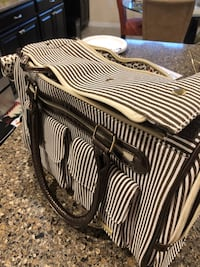 Black and white striped bag Ruskin, 33570