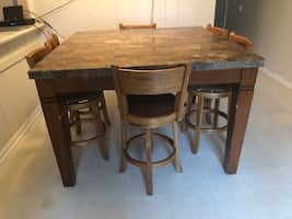 Dining Kitchen Gathering Table with 7 Chairs