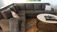 8 foot by 10 foot grey sectional sofa Youngsville, 70592