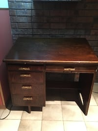 Custom made solid wood vintage desk with chair Toronto, M9C 3S9