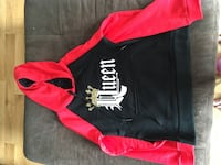 black and red Queen pullover hoodie