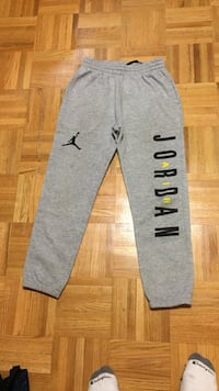 gray Air Jordan drawstring pants