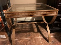 2 metal/glass end tables Malden