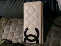 white and black quilted leather wallet Bakersfield