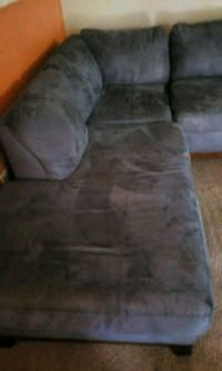 Blue suede sectional Oxon Hill, 20745
