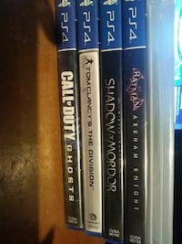 four assorted Sony PS4 game cases Lynwood, 90262