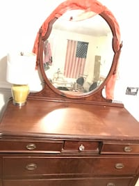 brown wooden dresser with mirror Midlothian, 23113
