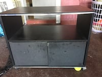 Black wooden framed glass tv stand Montréal, H8N 1W5
