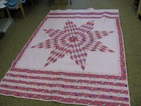 white and pink star quilt CHAMBERLAIN