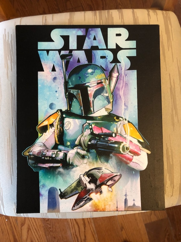 SET OF 4 STAR WARS CANVAS PICTURES feeb6771-05cf-444b-aa20-8cddf1163c41