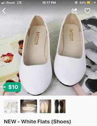NEW: White Flats (shoes)