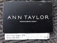 Ann Taylor $212 gift card Campbell, 95008