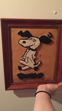 Snoopy hand-woven picture
