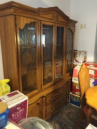 Brown wooden china cabinet Maple Shade, 08052