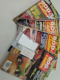 assorted rod custone magazines