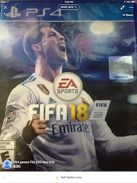 Ps4 games fifa 18 and nba 2k 18 $30 each Sioux City, 51106
