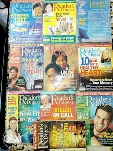 readers digest assorted magazines