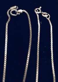16 and 18 inch box sterling silver necklace Silver Spring, 20904