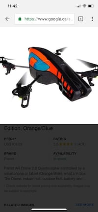 black, orange, and blue drone quadcopter Châteauguay, J6J 3H7