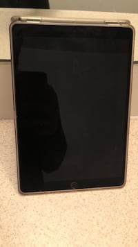black iPad with black case