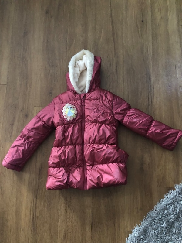 pink and white bubble jacket