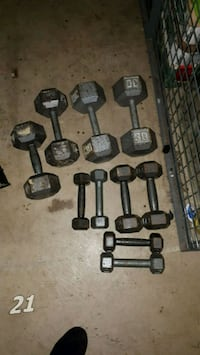 black and gray dumbbells and barbell Vancouver, V5T 1V2