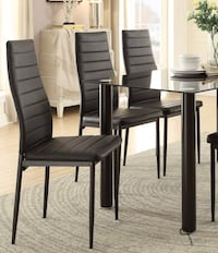 .table and chairs [SPECIAL] Florian Black Dining Set.