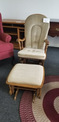 Very Nice Glider Rocker with Glider Stool New Castle