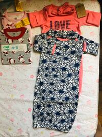 Baby girl pajamas and gowns w/ matching headbands Lancaster, 93535