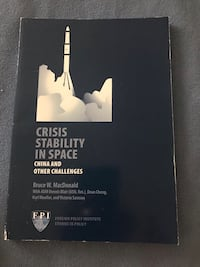 Crisis stability in space.  China & other challenges.  FPI Book