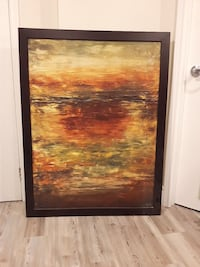 Espresso coloured frame...modern abstract Mississauga, L5B 2K7
