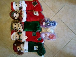 Precious Moments Christmas Stocking Dolls
