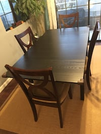 Real wood dining set with seat cushions