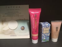 Four cosmetic samples