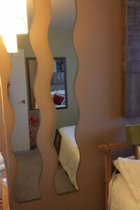 """Mirrors, 2 wavy mirrors, 63"""" long and 8 """" wide"""