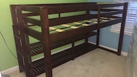 Strong Brown wooden loft bed frame 16 km