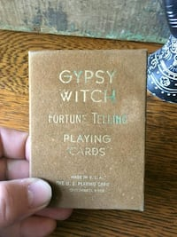 Antique Gypsy Witch Fortune Telling Cards- Vintage Playing Cards Tarot Bethlehem