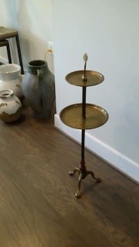 Antique Cigar stand- Brass and Wood Alexandria, 22301