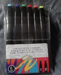 Double ended markers. Chisel tip and Fine tip Brampton, L6X 1G3
