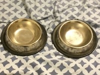 two gray stainless steel pet bowls Richland, 99354
