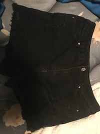Size large black shorts with rips  , T7X 3N3