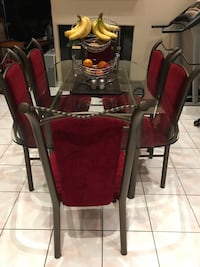 Very nice glass table with 6 chairs  Markham, L6C 2G7