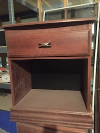 Brown wooden nightstand/end table