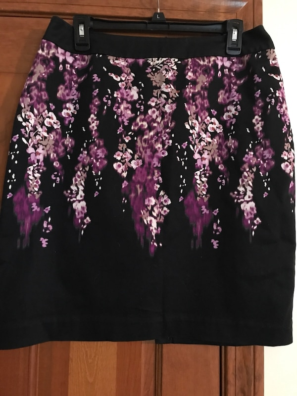 444a62f464 Used black, purple and white floral pencil skirt size 12 knee length for  sale in Farmington - letgo
