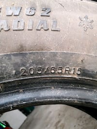4 X WINTER TIRES 205/65R15 Newmarket