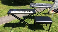 Two black electronic keyboards Sedro-Woolley, 98284