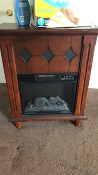 Plug-in fireplace heater