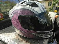 pink and black full-face motorcycle helmet Lake Wales, 33853