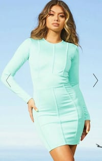Aqua second skin binding detail bodycon dress Bergen, 5152