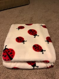 NEW Ladybug fleece throw Manassas